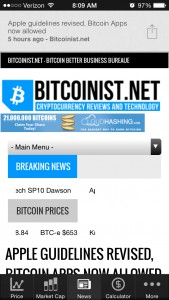 BlockStreet News Screen_Bitcoinist view 2