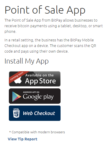 bitpay app coming soon