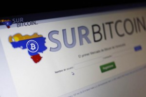 Website of bitcoin trading exchange SurBitcoin is seen on a computer in Caracas