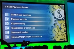 Cryptocurrency is third on Money 20/20 six major Payment themes.