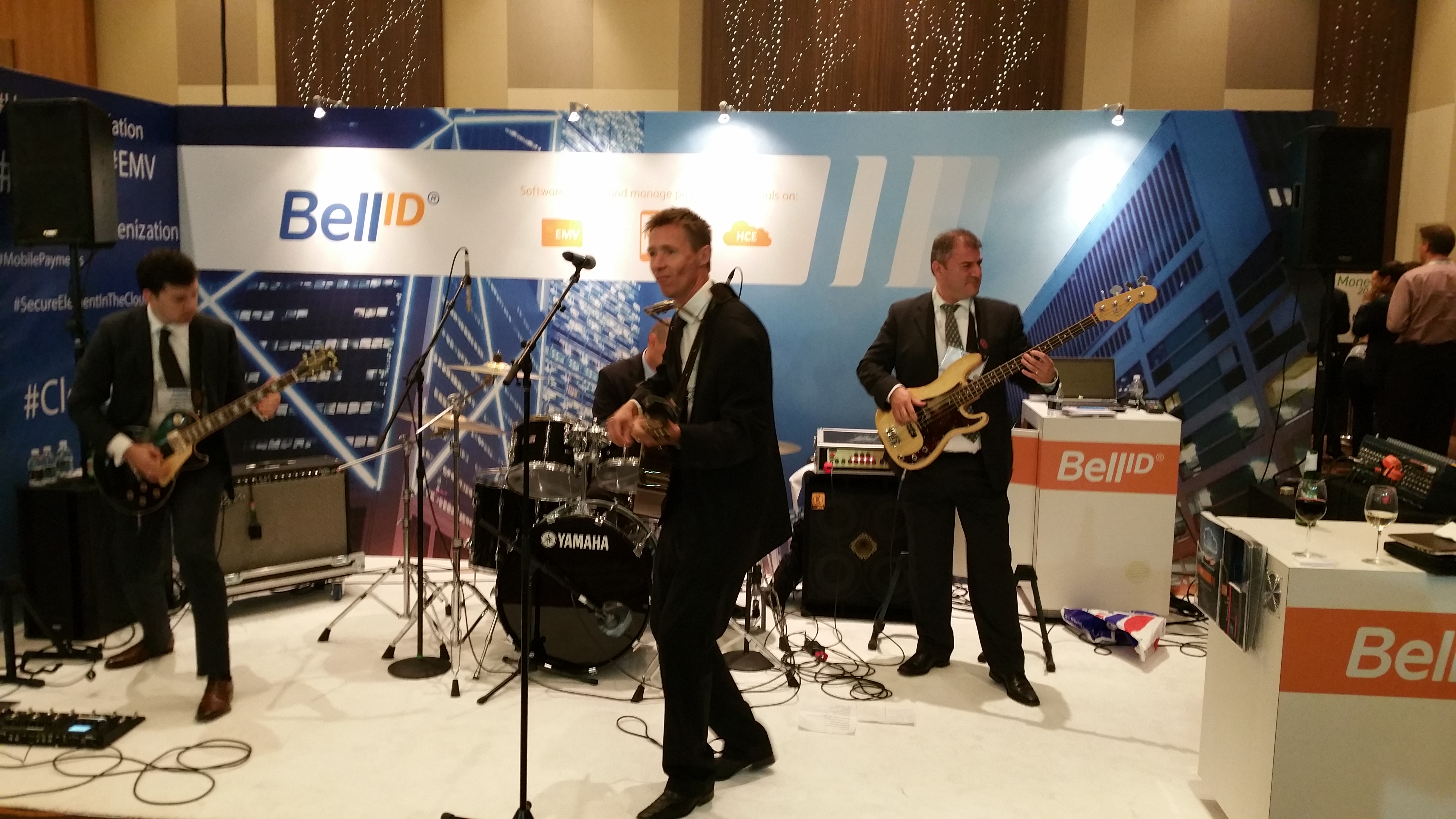 Rocking out on the exhibition floor at Money 20/20.