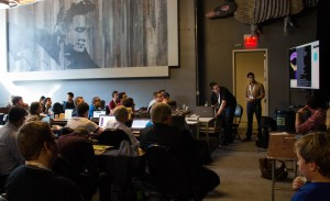 Texas Bitcoin Hackathon attendees worked on Bitcoin and block chain projects for hours.