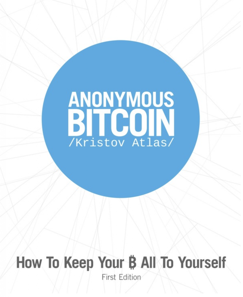 "Cover of Kristov's book: "" Anonymous Bitcoin"""