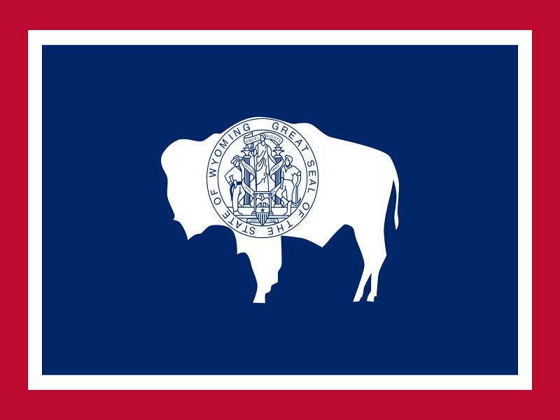 Wikipedia; source: https://en.wikipedia.org/wiki/Flag_of_Wyoming#/media/File:Flag_of_Wyoming.svg