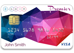 e-coin debit card