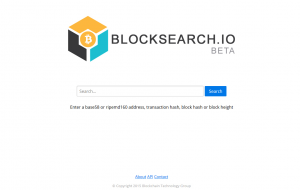 BlockSearchio Beta