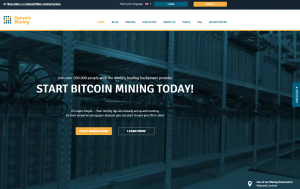 Genesis Mining Front Page