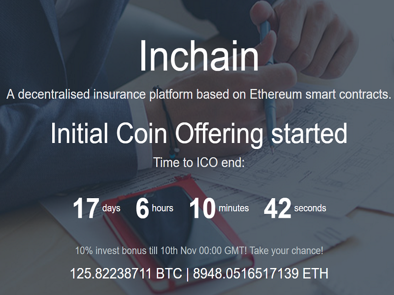 Inchain Holds ICO for Decentralized Insurance Platform
