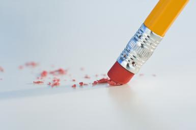 Close up of pencil eraser