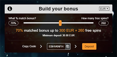 Oshi Casino - Build Your Bonus