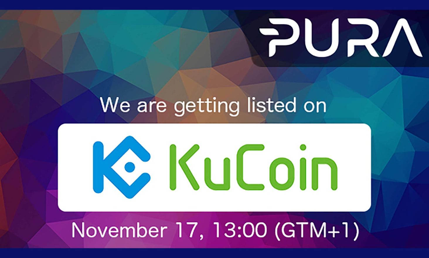 PURA to be listed on KuCoin: Trading Starts On Friday November 17