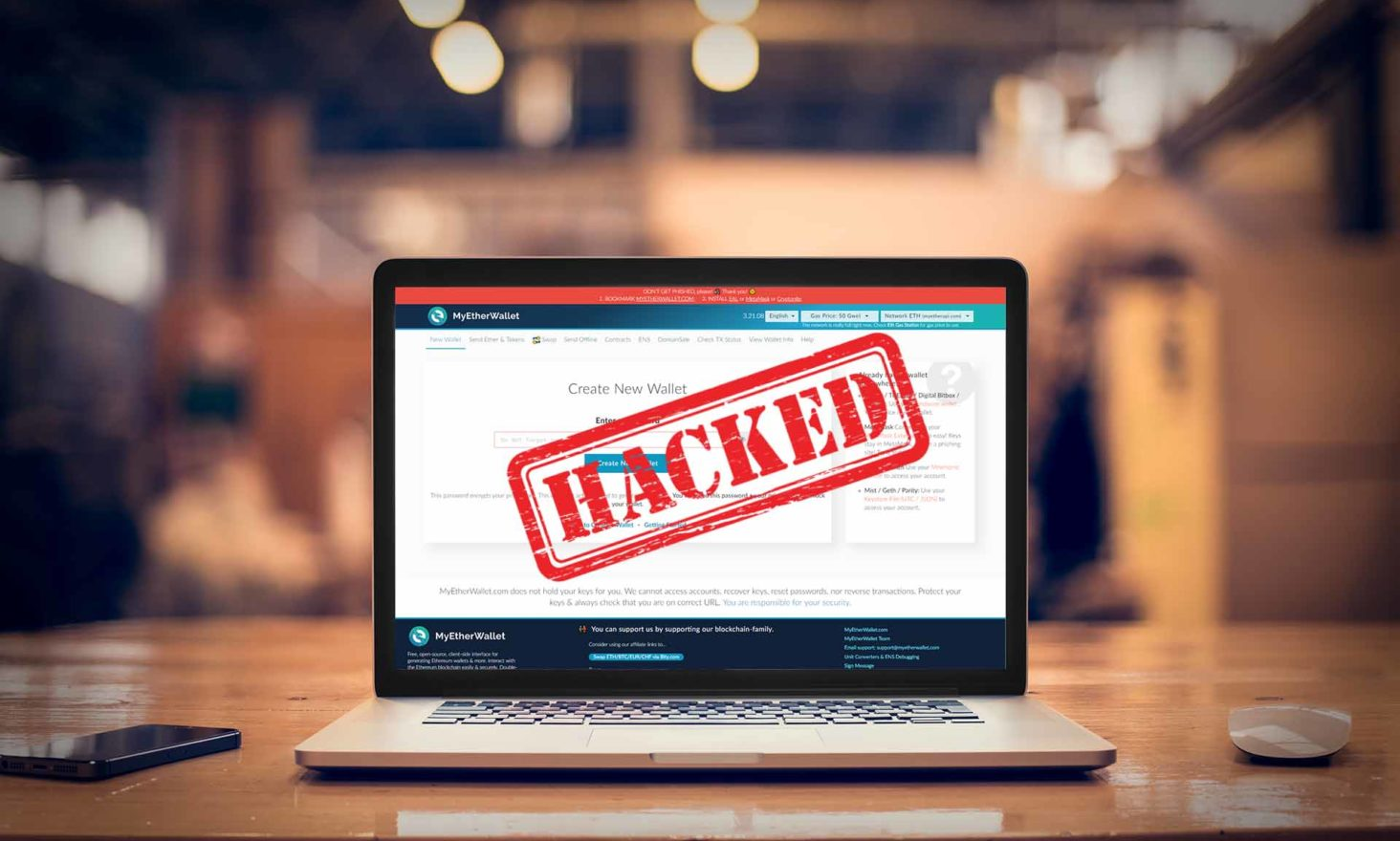 MyEtherWallet Users Lose Funds to DNS Hack
