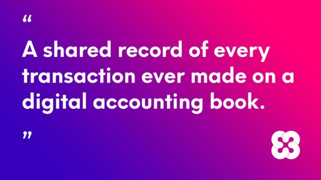 A shared record of every transaction ever made on a digital accounting book.