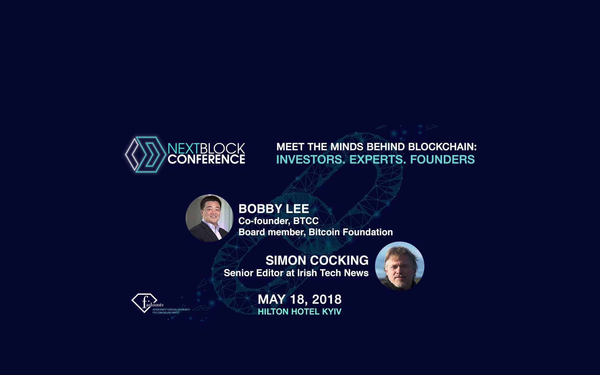 Kyiv to Host Fabulous Crypto Conference and Deluxe Party: Bobby Lee and Simon Cocking 1st time in Ukraine on Stage