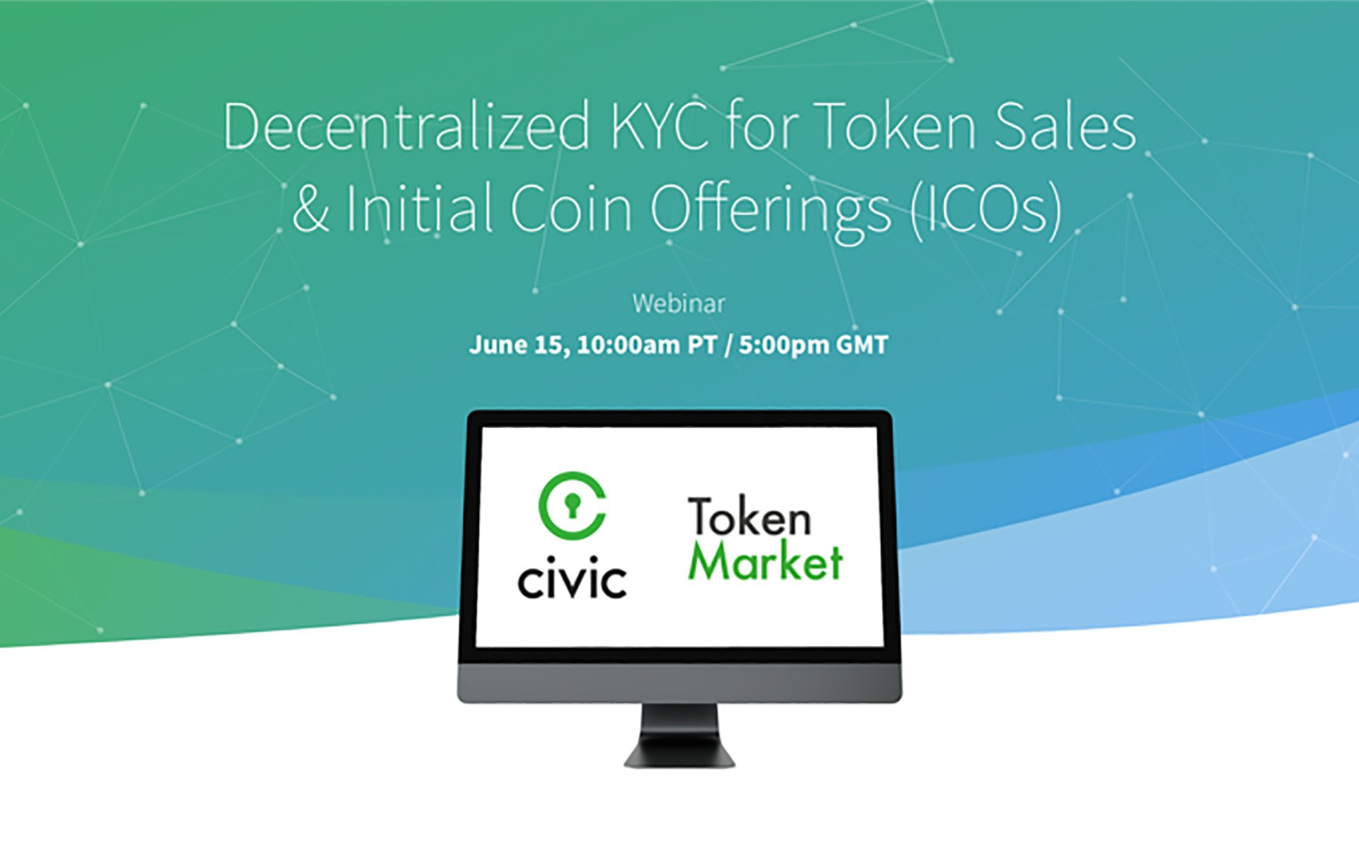 TokenMarket Joins Civic, Leading Blockchain Identity Technology Provider, for First Webinar on Decentralized Identity