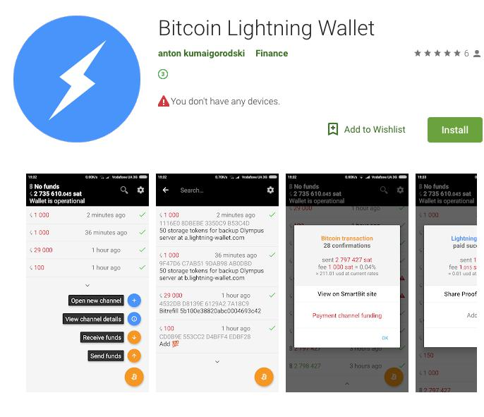 Bitcoin Gets First Lightning Network Wallet App on Android