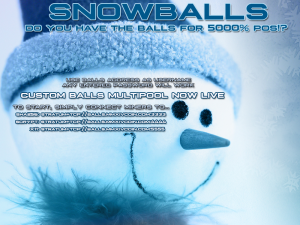 Snowballs: 5000% yearly POS rate Altcoin!