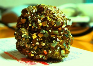 Pyrite, also known as fool's gold, has been used throughout history to defraud unwitting gold buyers.