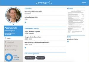 Vettery Application