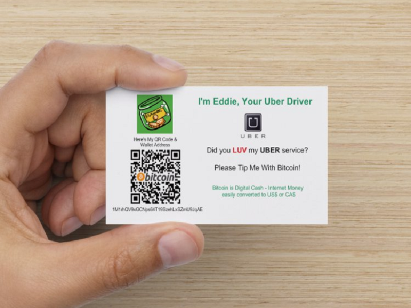 Uber drivers get creative to accept bitcoin donations bitcoinist bitcoin ccuart Image collections