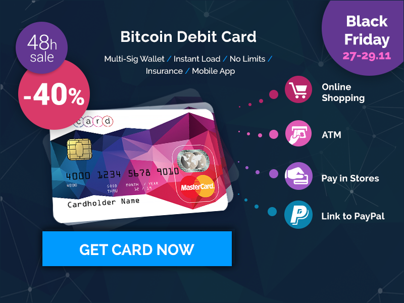 Carte Graphique Nvidia Black Friday.E Coin Black Friday Sale Bitcoin Debit Cards 40 Off For 48 Hours