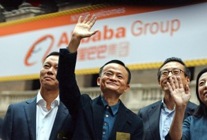 Alibaba's Jack Ma during IPO