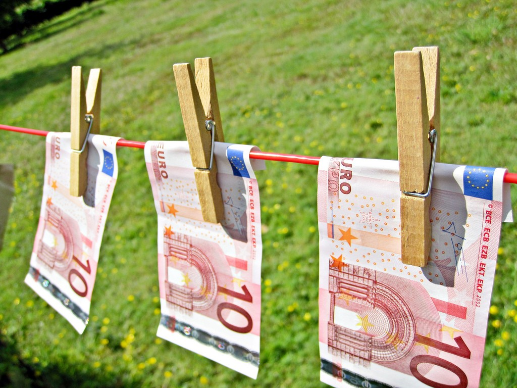 money laundering, euro