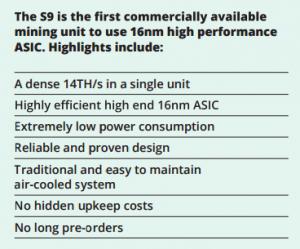 Bitmain S9 Announcement