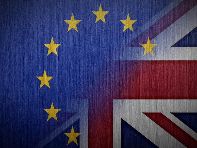UK Brexit Flags