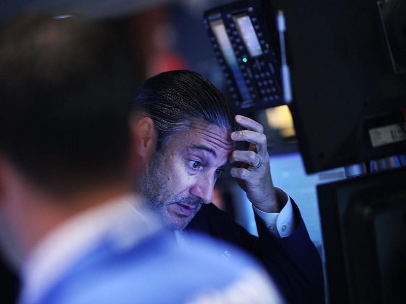Stressed crypto trader