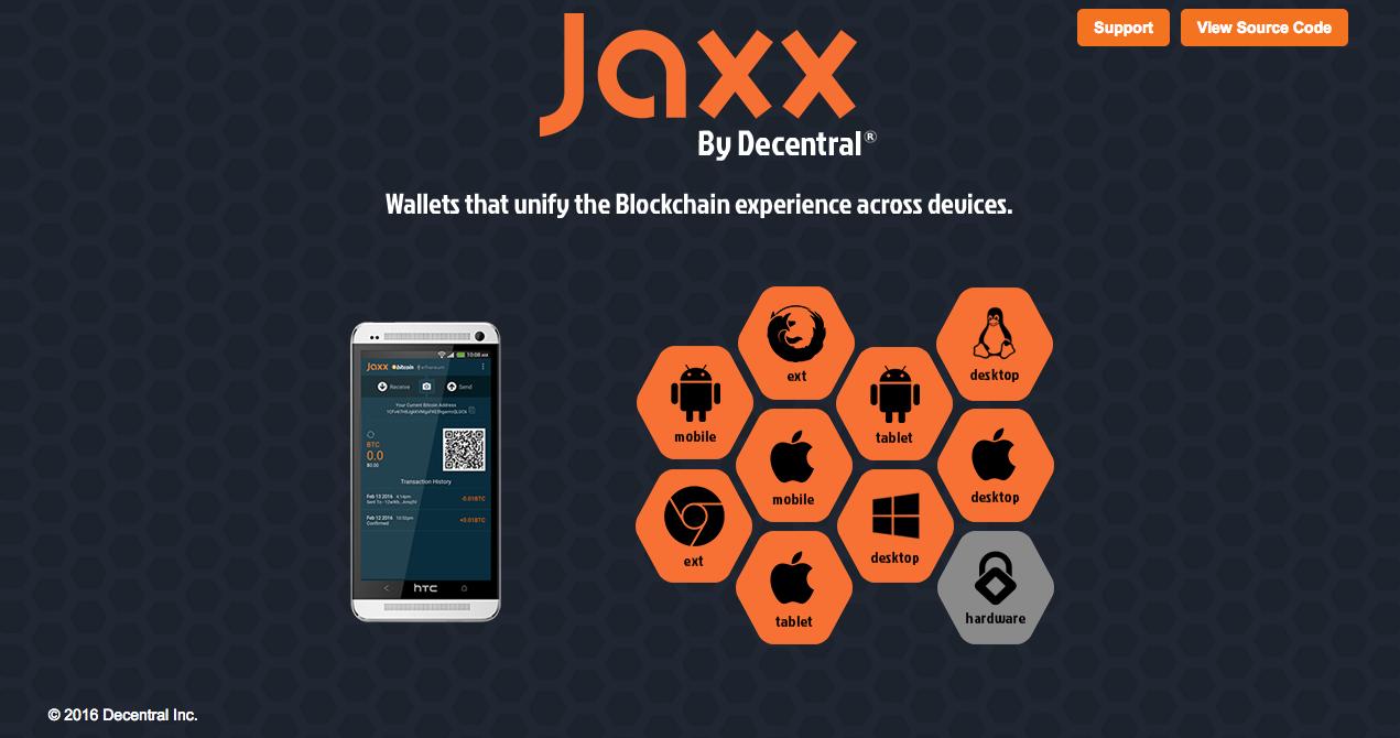Jaxx Splash Page