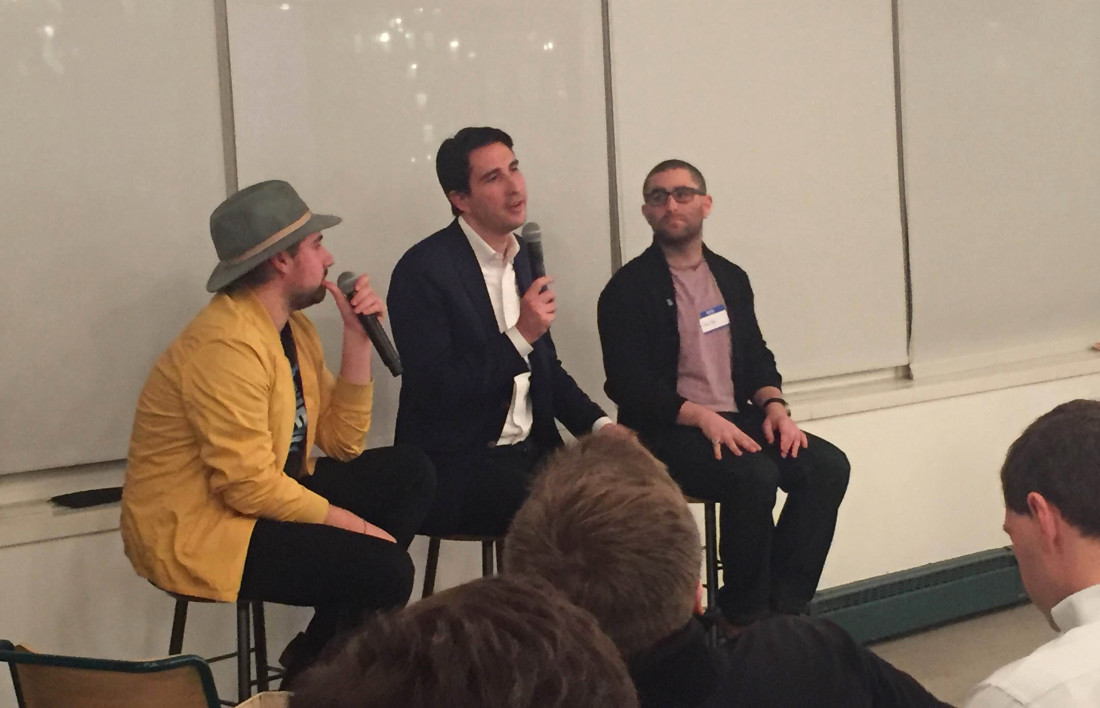 CoinDesk on Tap Santori Shrem Rizzo Panel