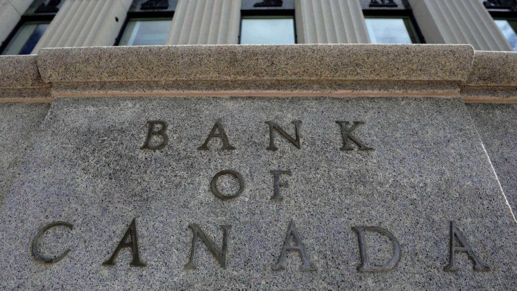 The Bank of Canada marker is pictured in Ottawa on September 6, 2011. The Bank of Canada will release its latest monetary policy report this morning -- a document expected to explore the economic damage inflicted by falling oil prices. THE CANADIAN PRESS/Sean Kilpatrick
