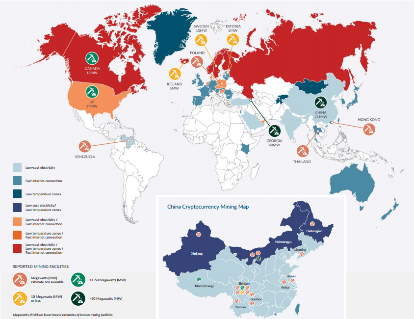 Cryptocurrency mining by country