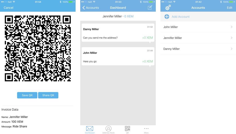 NEM iOS app
