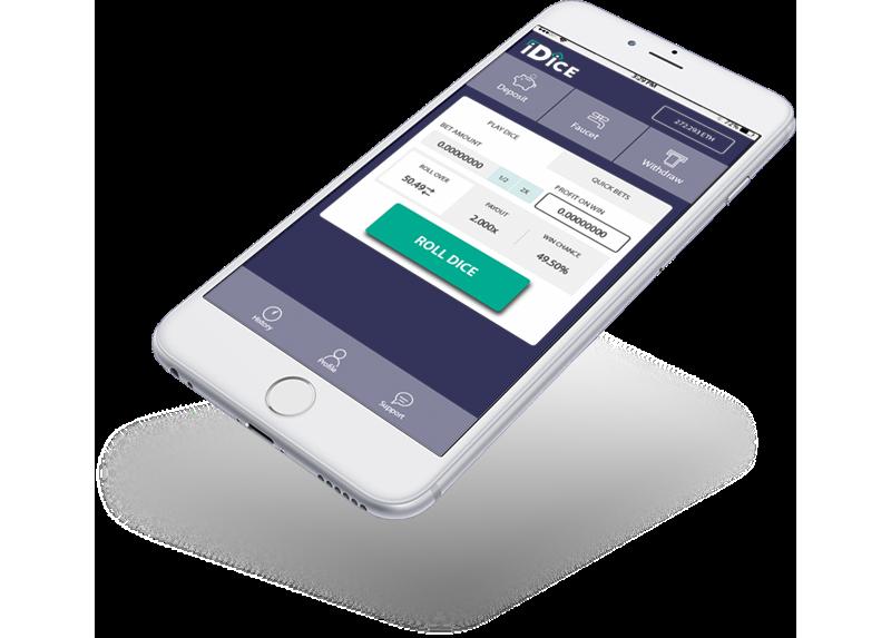 iDice mobile gambling platform