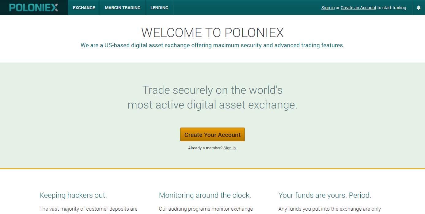 Poloniex altcoin exchange