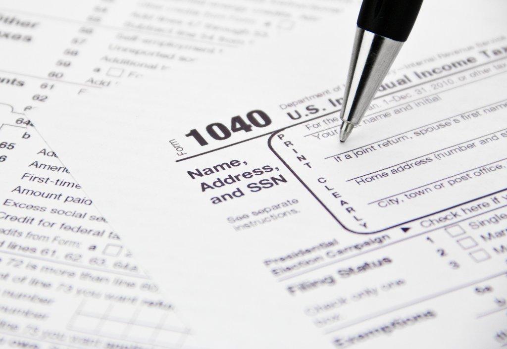 IRS Tax Form 1040