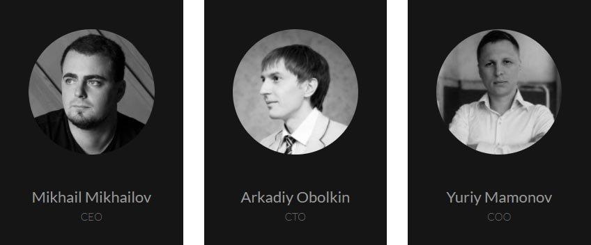 DS Plus CEO Mikhail Mikhailov, COO Yuriy Mamonov, and CTO Arkadiy Obolkin