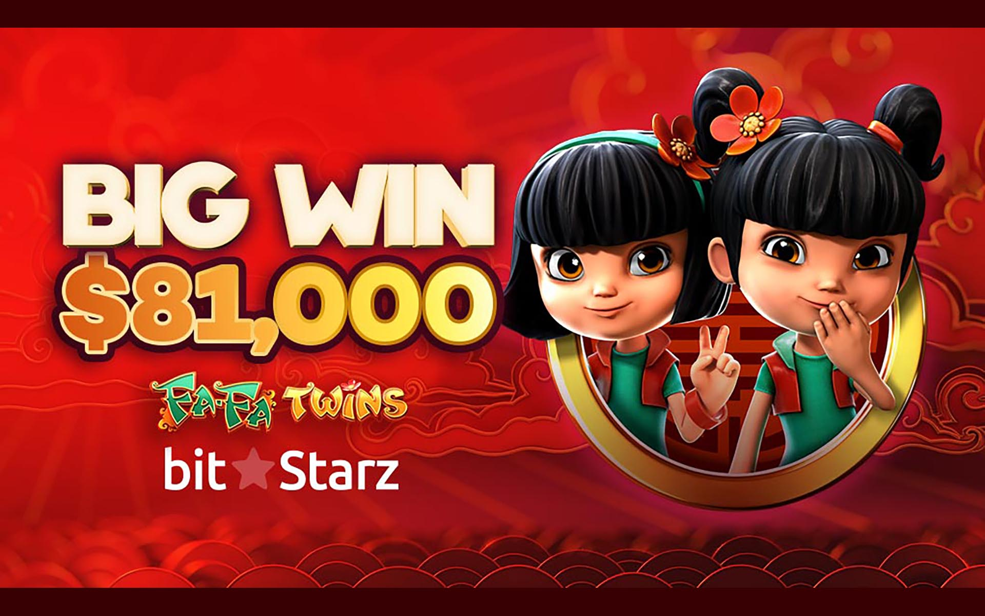 $81,000 Black Friday Win on FaFa Twins at BitStarz!
