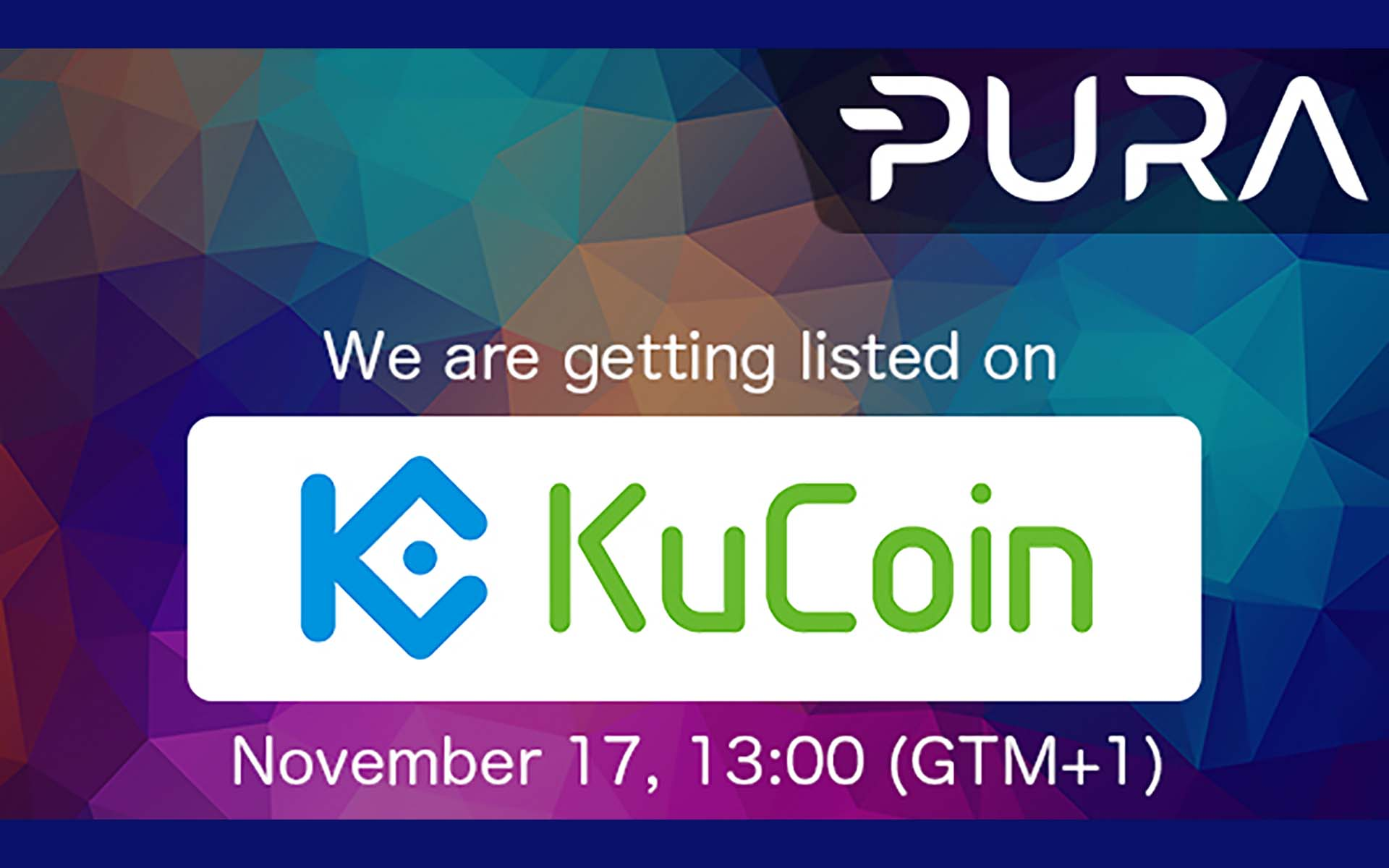 PURA to be listed on KuCoin: Trading Starts On Friday November 17