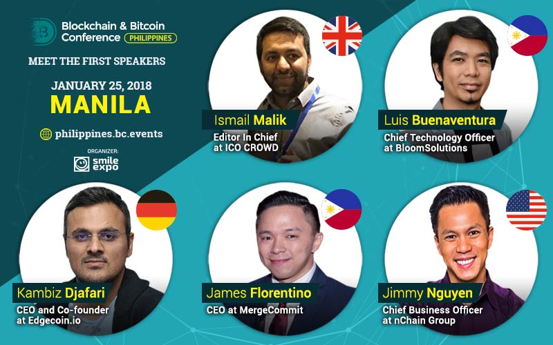 Blockchain experts and industry leaders from around the globe will gather in January to speak at the Blockchain & Bitcoin Conference Philippines in Manila.