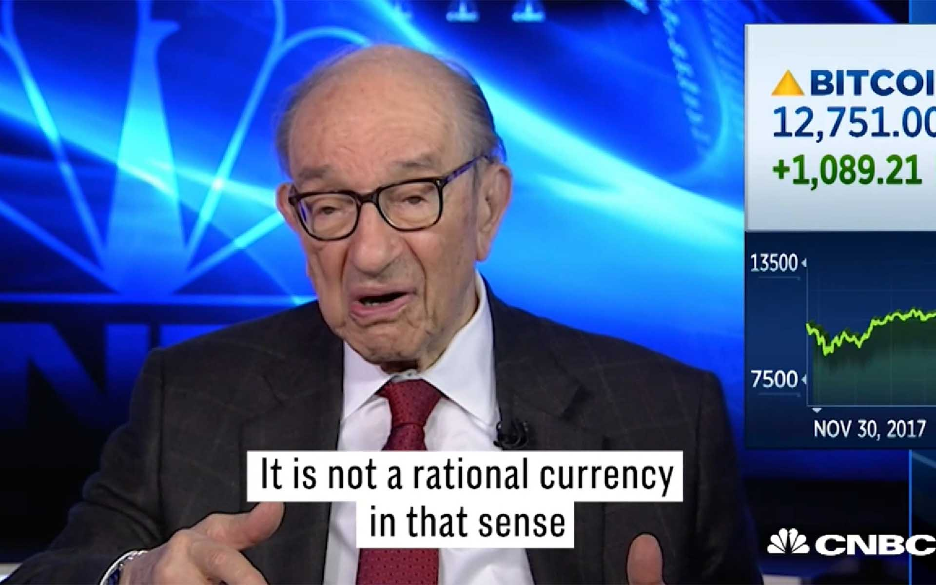 Former US Federal Reserve Chairman Alan Greenspan: Bitcoin Not Rational