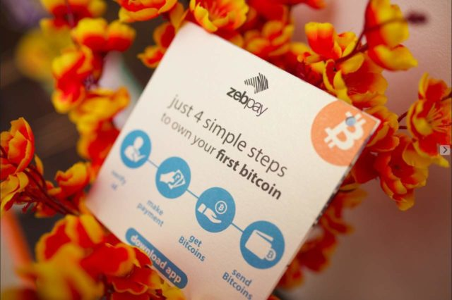 Zebpay Bitcoin booth at Indian wedding