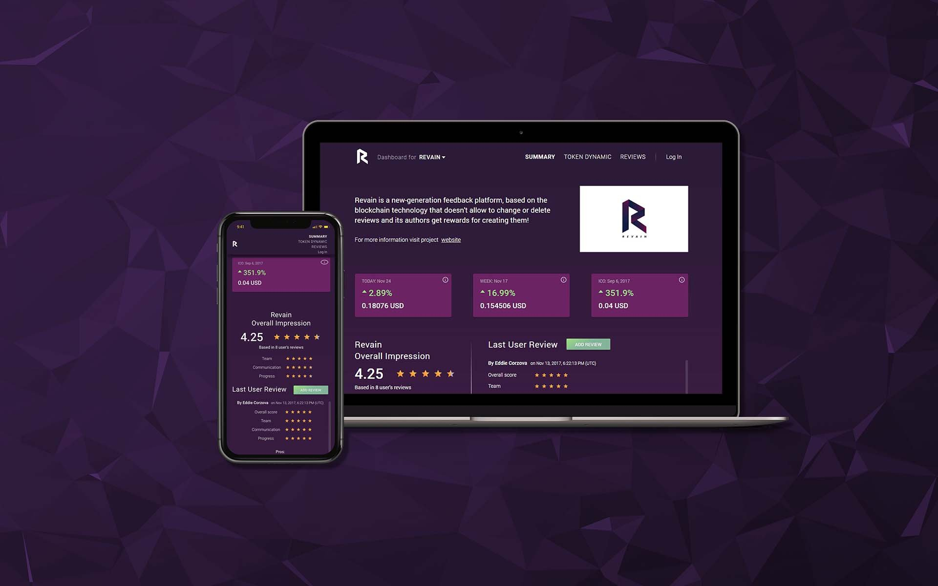 Revain Officially Releases v0.3 Dashboard