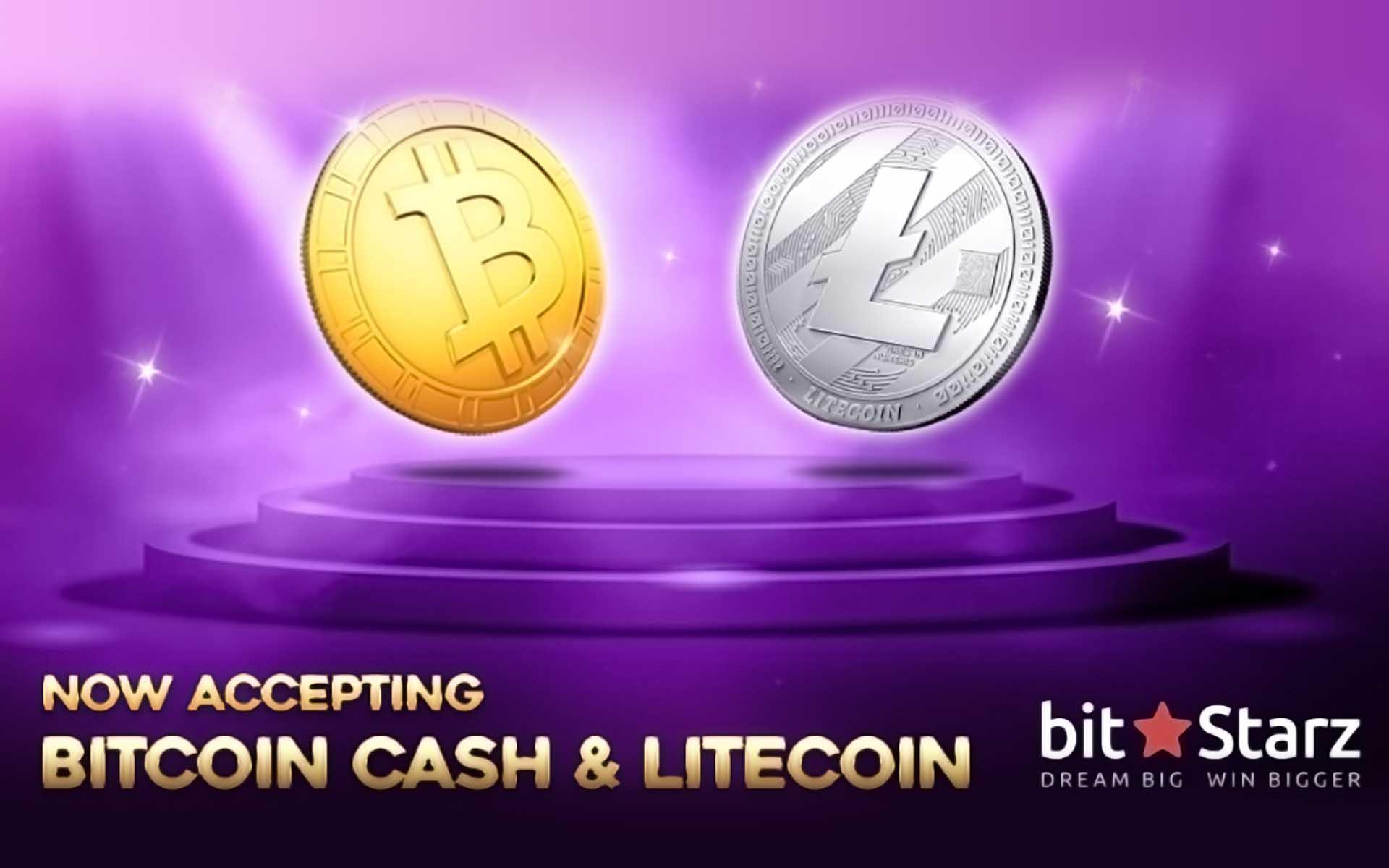 BitStarz Now Accepts Litecoin (LTC) and Bitcoin Cash (BCH)