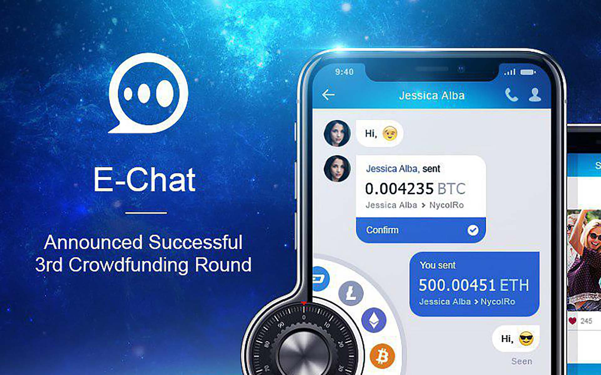e-Chat Launches 3rd Round of Token Sale