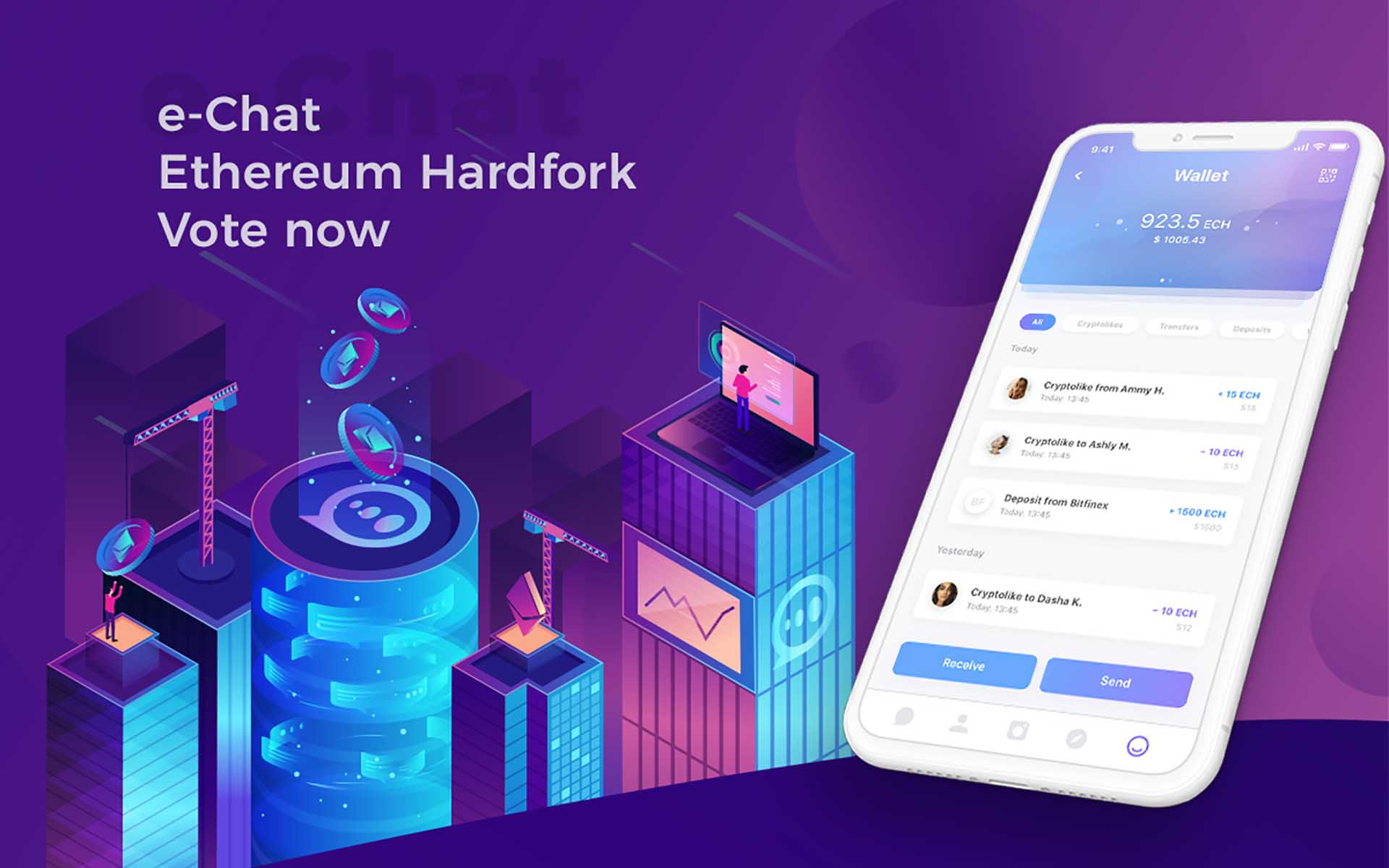 e-Chat can conduct Ethereum Hardfork after the ICO