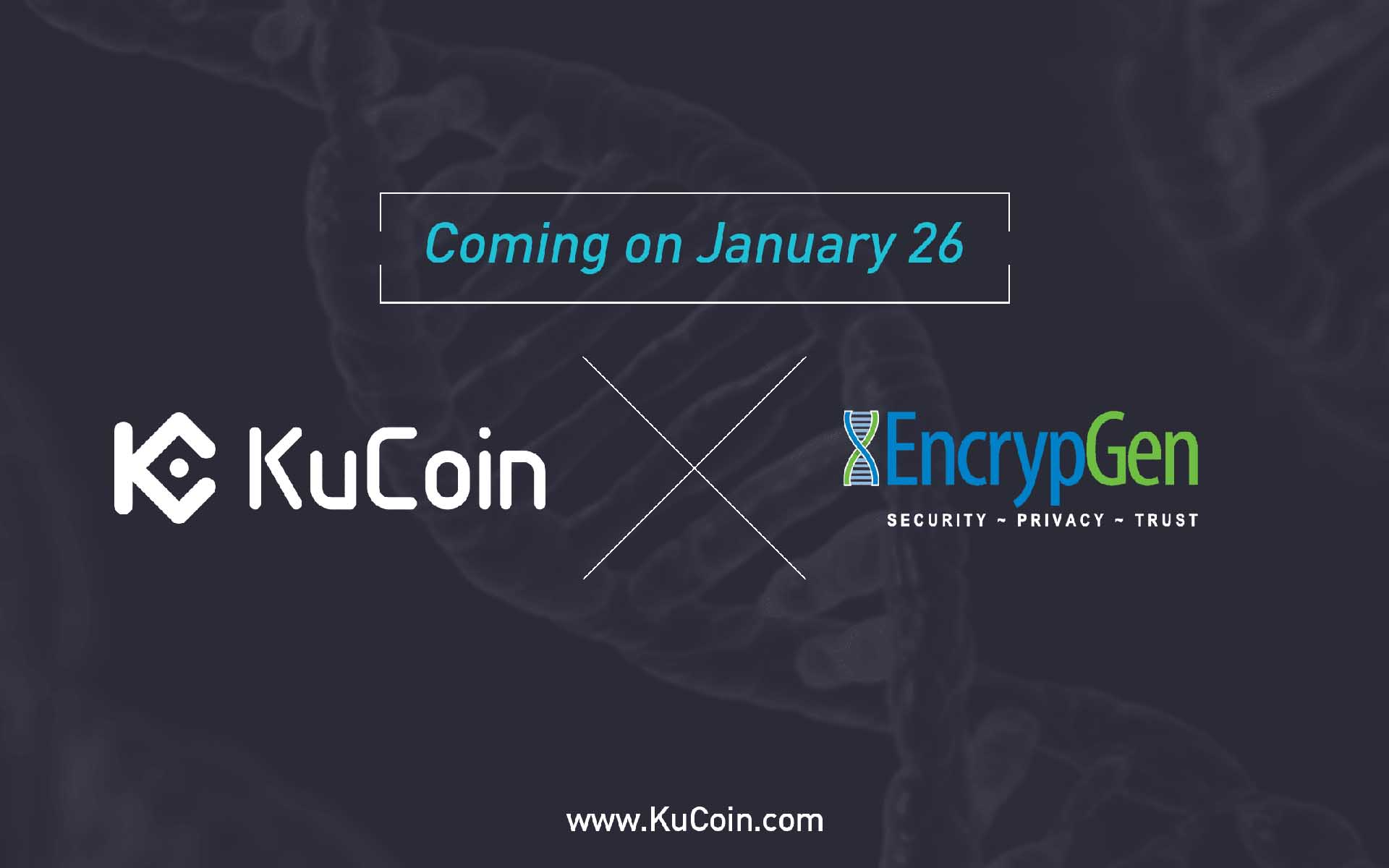 EncrypGen (DNA) Gets List on Kucoin!