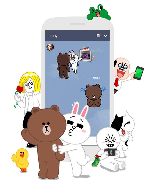 Line chat app